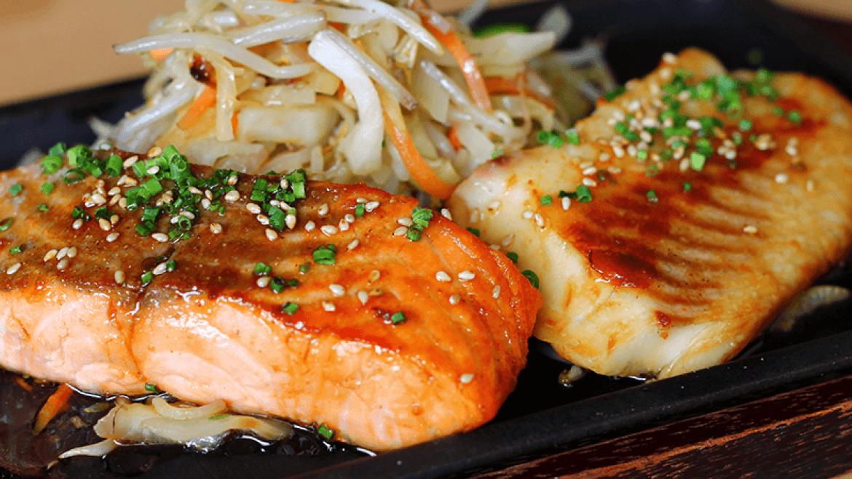 Fisch-Teriyaki-Menü