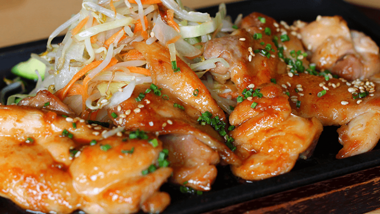Hühnerfleisch-Teriyaki